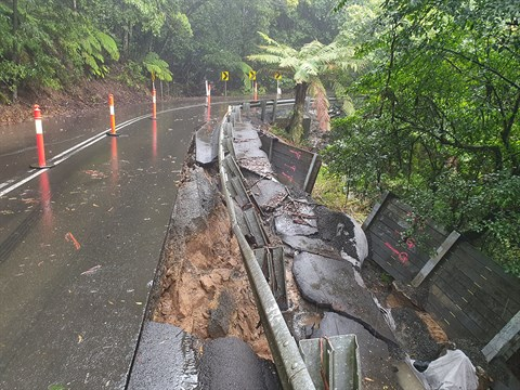 Landslip on Jamberoo Mountain Road - July 2020